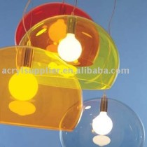 Transparent color acrylic lamp shade for home & office
