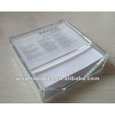 Acrylic memo holder