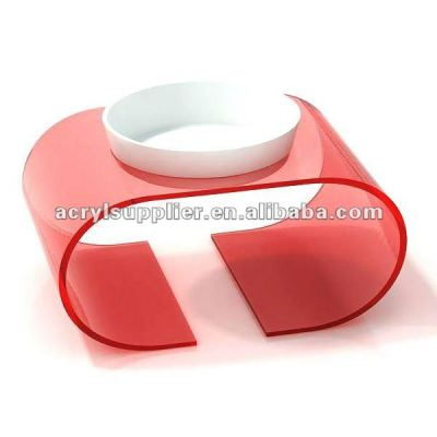 arcylic pet bed dog/cat feeder bowl