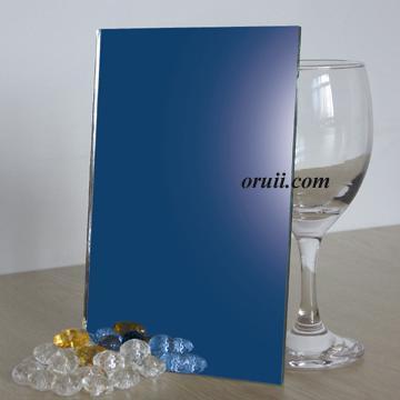 espejo azul