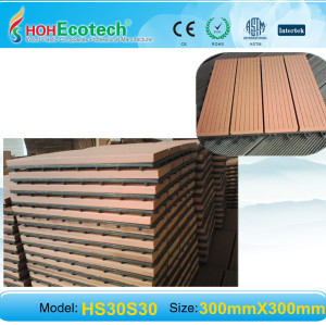 wpc DIY decking tile 300*300mm