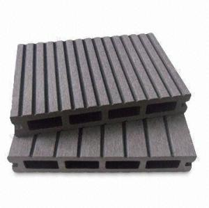 Grooved wpc flooring board wpc decking board 147x23mm