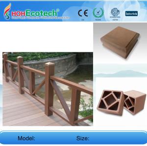 Public decoration decking board and Bridge wpc railing/post
