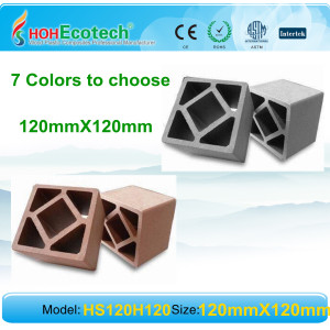 different colors to choose wpc railing/post  ecofriendly material