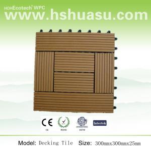 wpc wood plastic composite deck tile