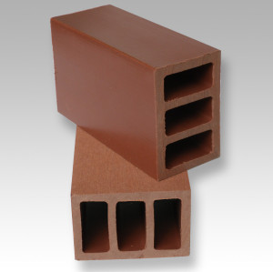 wood plastic composite rail