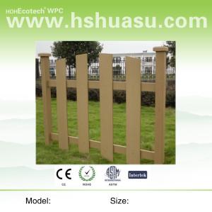 wood plastic composite garden fence