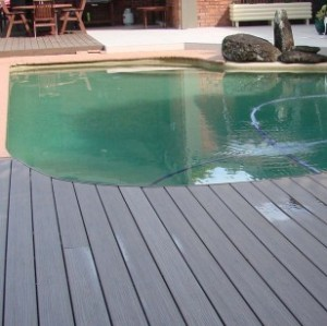 swimming pool Environment friendly wpc post wpc decking