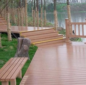 wpc flooring and bench Environment friendly wpc post wpc decking