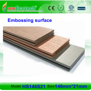 Non-paint, weatherproof composite decking wpc decking flooring