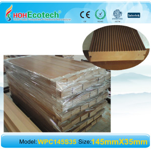 Easily installation SOLID composite decking wpc decking flooring