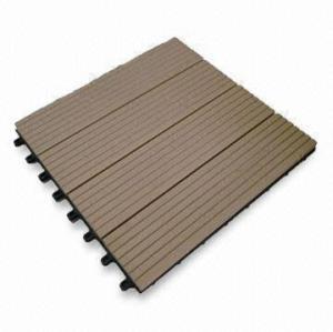 7 ألوان للاختيار غير زلة، مقاومة للاهتراء التزيين WPC / بلاط الأرضيات