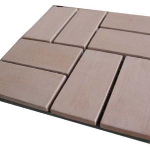 Non-Slip, Wear-Resistant 300x300mm wpc decking tiles