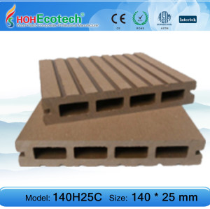 plastic wood decking flooring 140H25C