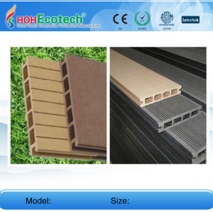 plastic wood decking flooring 160H25