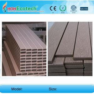 plastic wood decking flooring 160H25