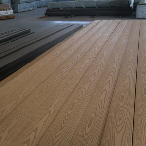 Embossing surface wpc decking board