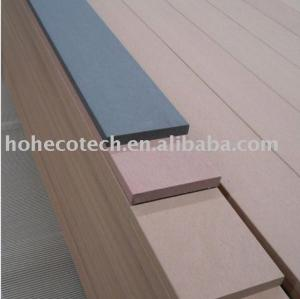 Natural wood looking and feel wpc wood plastic composite decking wpc decking board