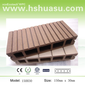 hot-wood plastic composite decking floor