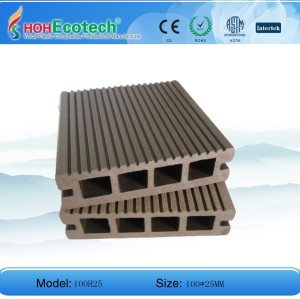 Hot! 100*25mm hollow deck/ WPC