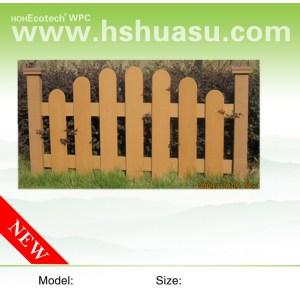 wood plastic composite fence