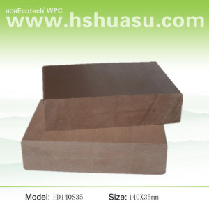 solid 140x35mm wpc wood plastic composite decking board