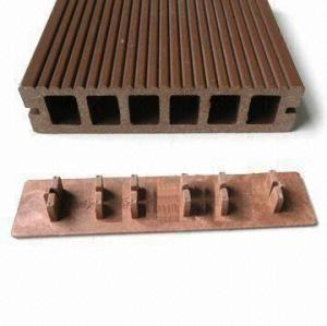 Easily installation and low maintenance hollow composited decking wpc flooring/decking