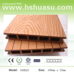 160x25mm wood color wpc deck