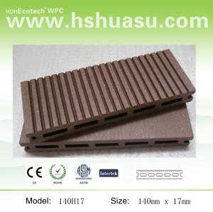140x17mm cedar color wpc deck