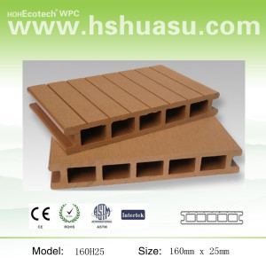 160x25mm woodlike composite deck