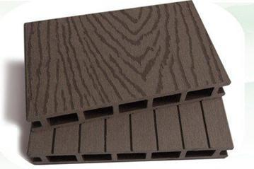 emboosing surface and grooved wood plastic composite decking