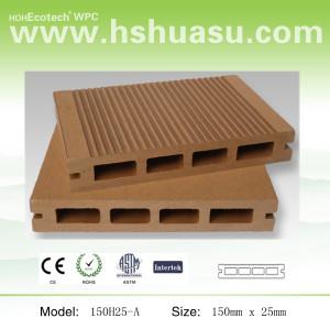 hollow decking wood plastic composite decking floor