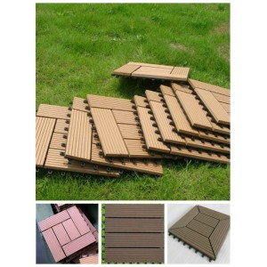 WPC DIY tile with plastic base