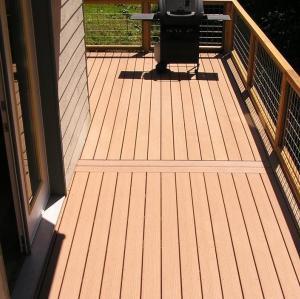 corridor  composite decking   outdoor  wpc flooring  / wpc decking board