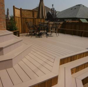 public construction  composite decking   outdoor  wpc flooring  / wpc decking board