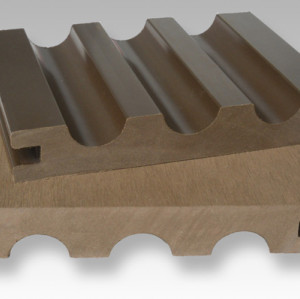 140x23mm سطح الخشب المركب من البلاستيك
