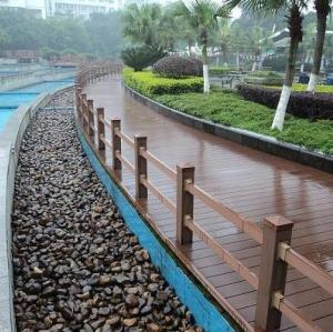 150x25mm  Public decoration material  Waterproof wpc flooring public construction  composite decking   outdoor  wpc decking board