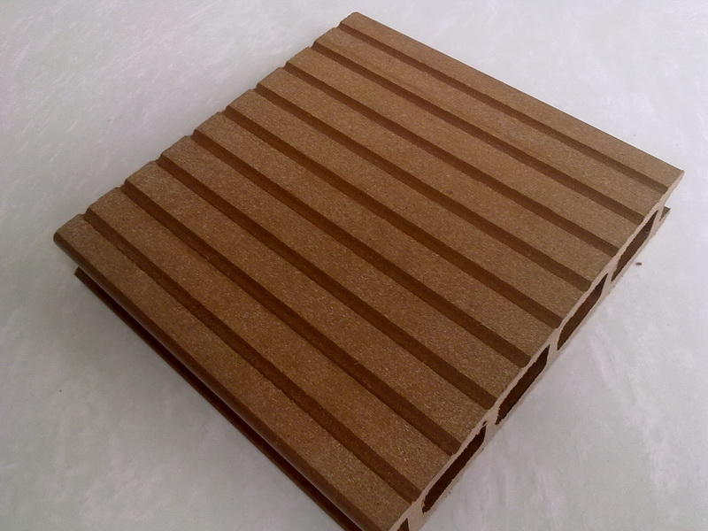 Hollow design wpc decking tiles waterproof wpc flooring for 6 metre decking boards