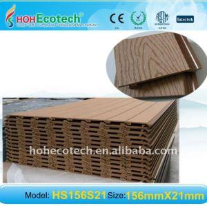 النقش سطح WPC لوحة الحائط الخشبية البلاستيكية لوحة المركبة الجدار