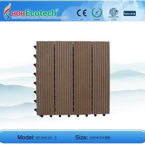 300x300mm wood color plastic composite tile