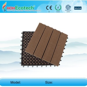 7 colors to choose Non-Slip, Wear-Resistant WPC decking/flooring  tiles