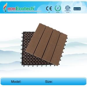 7 colors to choose Non-Slip, Wear-Resistant WPC decking/flooring  tiles