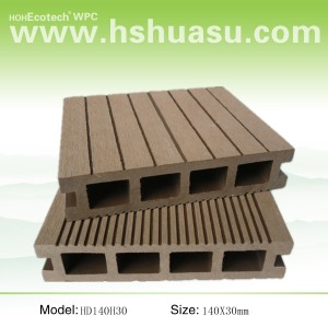 hollow decking wood plastic composite decking floor
