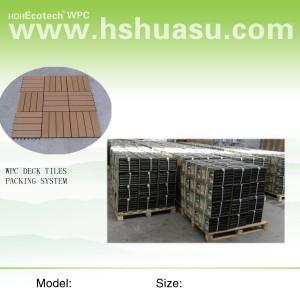 wood plastic composite diy decking tile