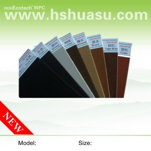 waterproof wpc decking WPC COLOR BOARD