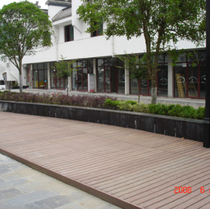 WPC deck for road side