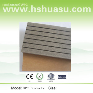 easily produced composite decking
