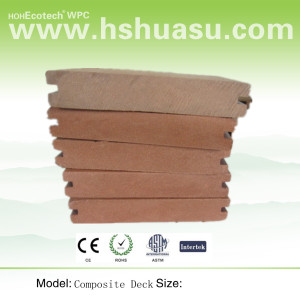 low frame spread composite decking