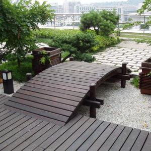 Terrace decking flooring wpc