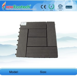 Non-Slip, износостойкие 300x300mm WPC настил плитки